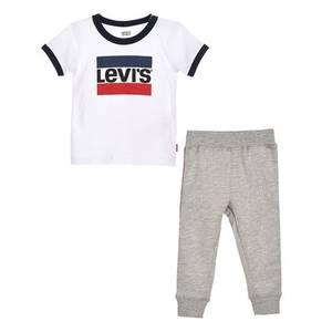 Bilde av Levi`s t-shirt jogger sett white